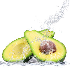 Deurstickers Opspattend water avocado splash