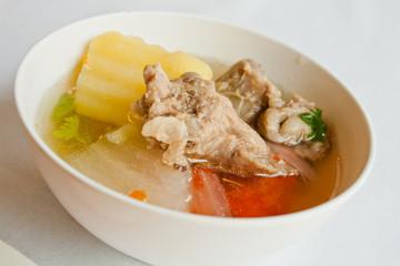 Thai food soup