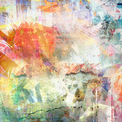 Abstract grunge illustration, color background