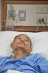 Elderly patien in hospital