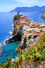 Fotomurales - View of the village of Vernazza, Cinque Terre, Italy