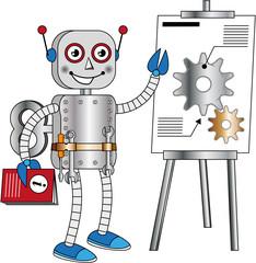 Spoed Foto op Canvas Robots robot that provides technical information