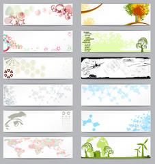 Set of twelve different business cards