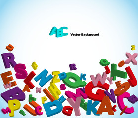 Alphabet with colorful letters