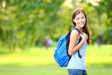 Leinwandbilder - Girl student in summer / spring