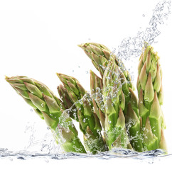 Deurstickers Opspattend water asparagi splash