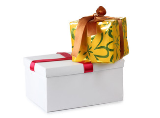 Bow and box of present