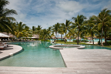 Tropical resort in French Polynesia