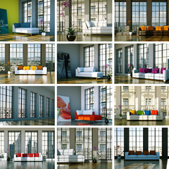Wohndesign Sammlung - 12 Sofabilder