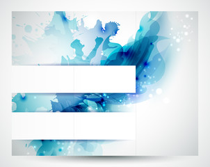 Fototapete - Brochure background with Abstract blue elements