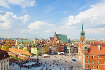 Wall Mural - Old town square, Warsaw, Poland