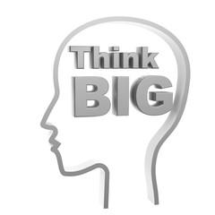 human head and think big symbol