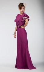 Beauty portrait of an elegant stylish woman in fashion dress