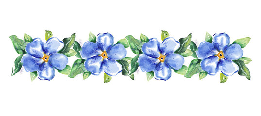 Watercolor -Forget-me-not-