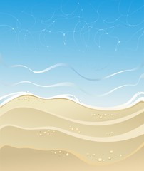 Sea beach background for holiday summer design