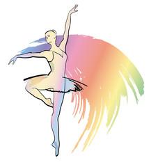 Dance ballerina on background