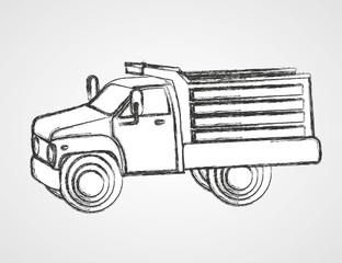 drawing dump truck