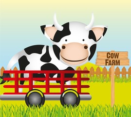 trailer with cow