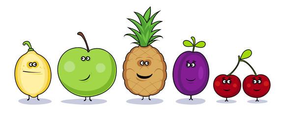 Funny cartoon vegetables symbols