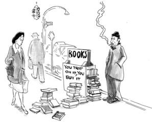 Street Vendor Selling Books
