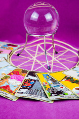 Tarot cards with the crystal ball (8)