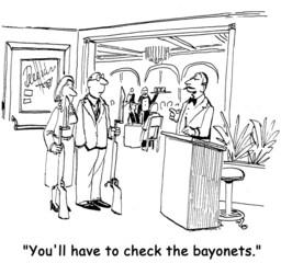 Check bayonets