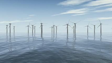 Windpark auf dem Meer