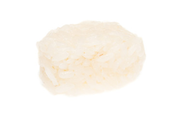 The boiled Chinese rice  on a white background