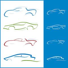 Ensemble Icones - Voiture Automobile pour Logos