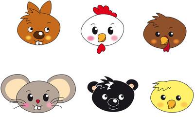 animal face illustration