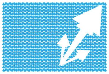 arrow blue background