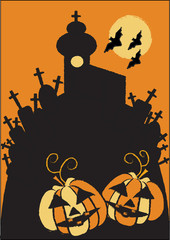 scarry halloween motive,colorful vector background