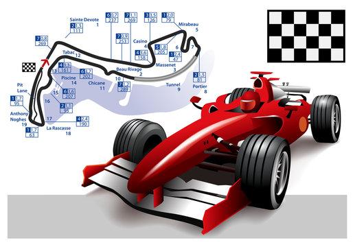 Poster Monaco Formula 1 Grand Prix