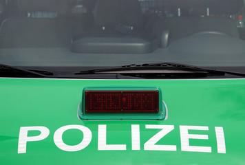 Wall Mural - Polizeiauto