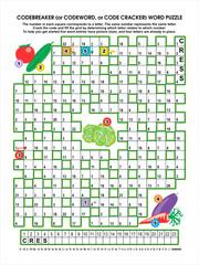 Vegetable garden codebreaker word puzzle
