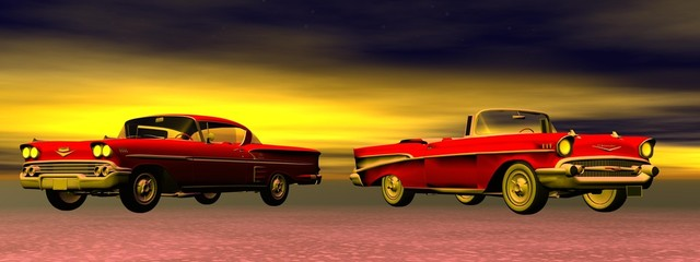 Old cars Wall mural