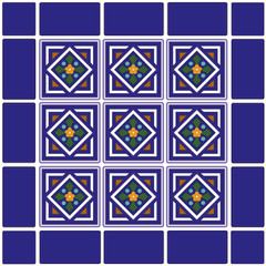 Seamless Tiles, Mexican ceramic. EPS includes 2 pattern swatches