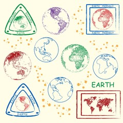 Planet Earth Stamp Set