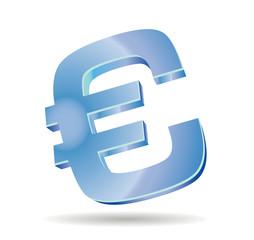 3d euro glossy symbol