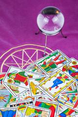 Tarot cards with a magic ball (4).