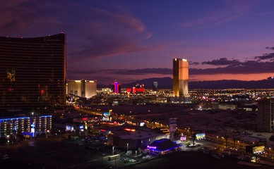 Keuken foto achterwand Las Vegas Las Vegas skyline at night