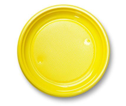 Empty yellow plate.