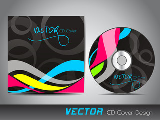 Black abstract CD cover.
