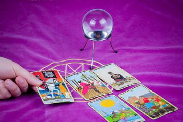 Tarot cards with a magic ball (3).