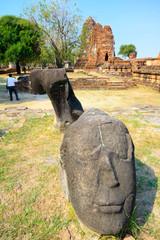 The ruin of buddha image (Ayutthaya City, Thailand)