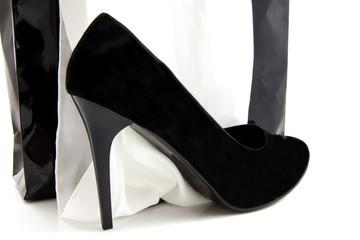 Sexy black high heel