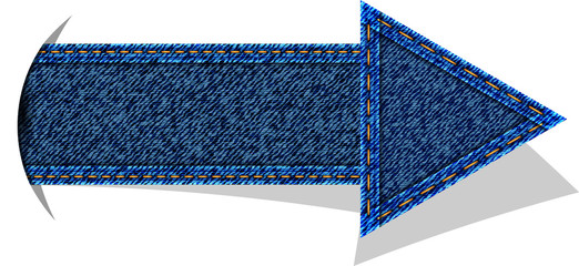 Jeans arrow vector