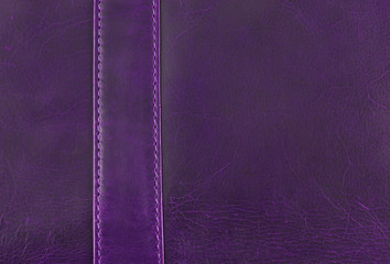 purple leather texture with seam