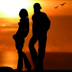 personnage ombre silhouette amoureux amour libre