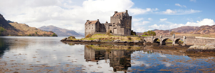 Printed roller blinds Castle Eilean Donan Castle Scotland Panorama